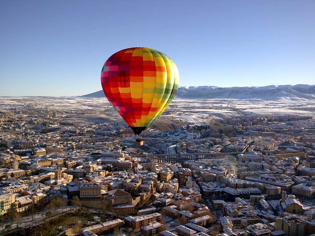 Eine Ballonfahrt in Segovia