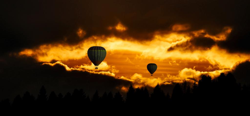 Ballonfahrt in Elche, Spanien