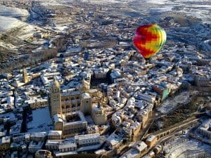Ballonfahrt Segovia in Kastilien und La Mancha