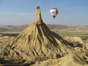 Ballonfahrt Bardena Reales in Aragon